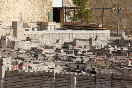 Model of the ancient Jerusalem   Stock Photo - 17163939