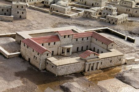 Model of the ancient Jerusalem  Palace photo