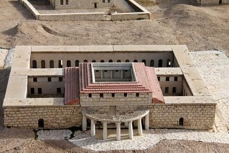 Model of the ancient Jerusalem  Palace photo