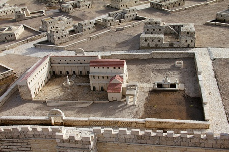 Model of the ancient Jerusalem   photo