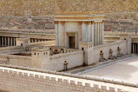 and israel: Second Temple  Model of the ancient Jerusalem  Stock Photo