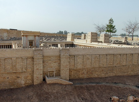 Second Temple  Model of the ancient Jerusalem  photo