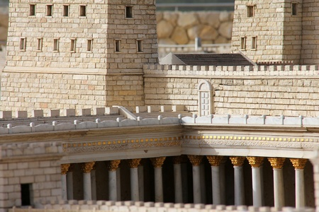 Second Temple   Anthony castle   Model of the ancient Jerusalem  photo