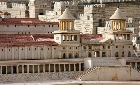 2nd century: Model of ancient Jerusalem  Upper Town  Hasmonean Palace