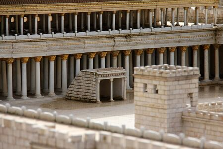 Second Temple Basilica  Model of the ancient Jerusalem   photo