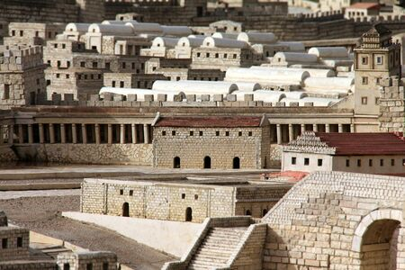 City Archives,  Robinsonstairs    Model of the ancient Jerusalem  photo