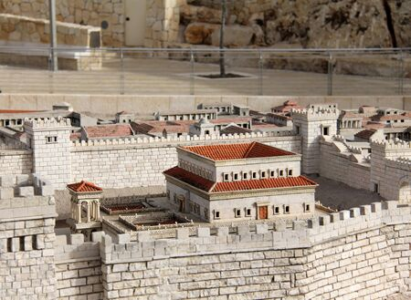 The palace of  Herod   Model of Jerusalem dating from the time of the Second Temple   Israel Museum Stock Photo - 17163865