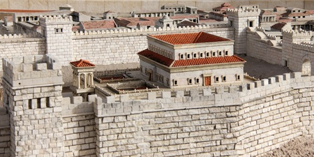 The palace of  Herod   Model of Jerusalem dating from the time of the Second Temple Stock Photo - 17163846