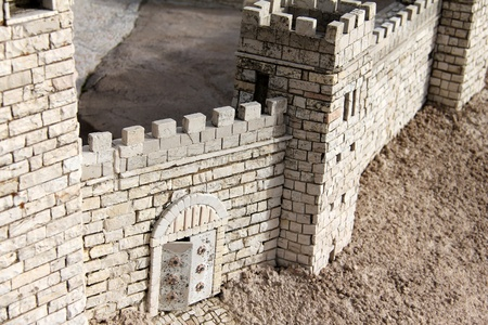 The city wall   Model of the ancient Jerusalem photo