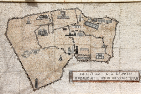 Scheme of ancient Jerusalem photo
