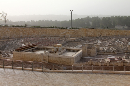 Model of the ancient Jerusalem  Israel Museum Stock Photo - 17163923