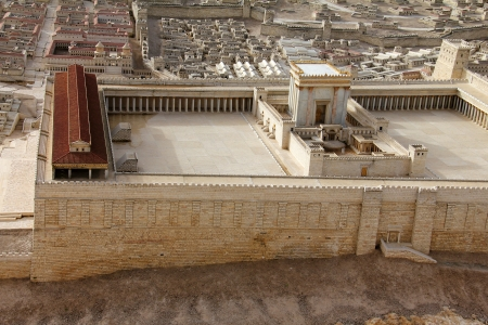 Second Temple  Model of the ancient Jerusalem  Israel Museum Stock Photo - 17163992