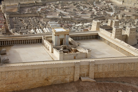 holy land: Second Temple  Model of the ancient Jerusalem  Israel Museum