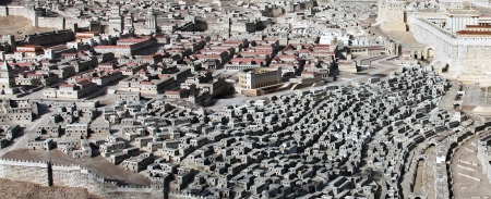 Model of the ancient Jerusalem  Israel Museum photo