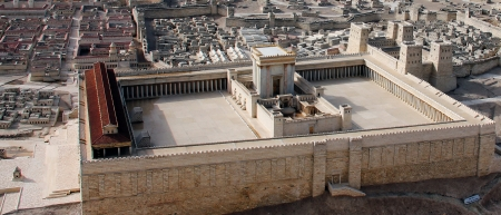 Second Temple in  ancient Jerusalem photo