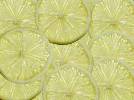 A slices of Lemon illuminated from behind Stock Photo - 17164056