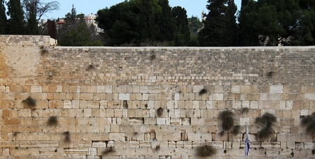 wailing:  Wailing Wall an important jewish religious site  Jerusalem, Israel