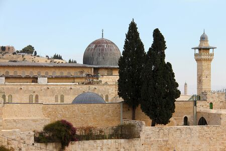 Al-Aqsa   the farthest   mosque is located on the southern side of the temple mount of Jerusalem, Israel, and is the 3rd most holiest site in Islam photo