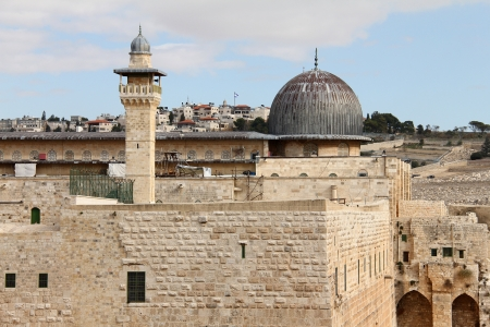 Al Aqsa mosque and  minaret   Jerusalem,Israel