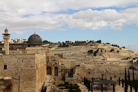 al aqsa: Al Aqsa mosque and  minaret  Jerusalem,Israel