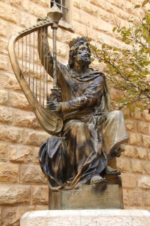 King David monument  Jerusalem  Israel 版權商用圖片