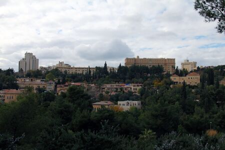 Panorama of West Jerusalem  Yemin Moshe neighborhood , Israel  Stock Photo - 17430703