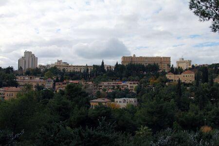 Panorama of West Jerusalem  Yemin Moshe neighborhood , Israel Stock Photo - 17430703