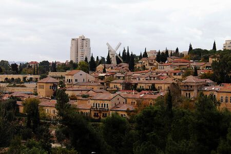 Panorama of West Jerusalem  Yemin Moshe neighborhood , Israel  Stock Photo - 17430819