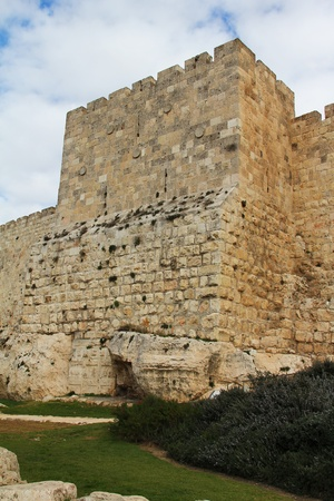 the scriptures: The ancient walls of the Old City of Jerusalem