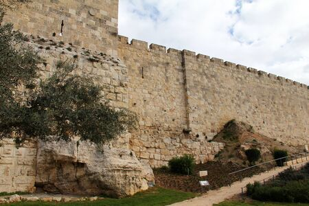 The ancient walls of the Old City of Jerusalem