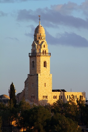 Dormition  Abbey  Bell-Tower on Mount Zion     Jerusalem  photo