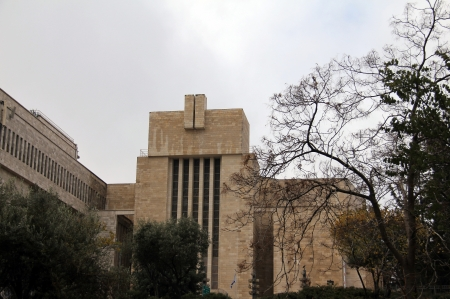 The Great Synagogue of Jerusalem on King George Street in December 2012  Great Synagogue was built in 1982 and has a huge prayer hall for 2000 people Stock Photo - 17566149