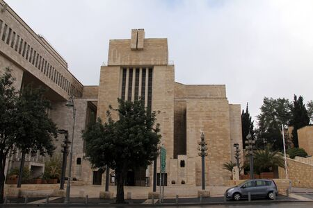 The Great Synagogue of Jerusalem on King George Street in December 2012  Great Synagogue was built in 1982 and has a huge prayer hall for 2000 people Stock Photo - 17554899