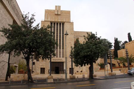 The Great Synagogue of Jerusalem on King George Street in December 2012 Great Synagogue was built in 1982 and has a huge prayer hall for 2000 people  Stock Photo - 17554901
