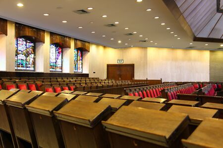 shul:  The Great Synagogue of Jerusalem on King George Street  inside