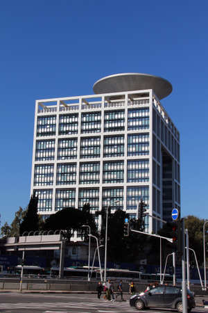 governmental: TEL AVIV, ISRAEL - FEBRUARY 03     The Ministry of Defense  Misrad HaBitahon  of the government of Israel on February 03, 2012 in Tel Aviv, Israel   The Ministry of Defense  is the governmental department responsible for defending the State of Israel from