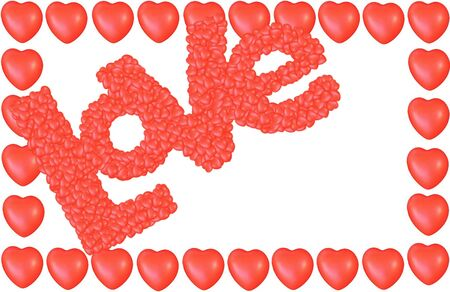 Valentine s Day Love Hearts Greeting card photo