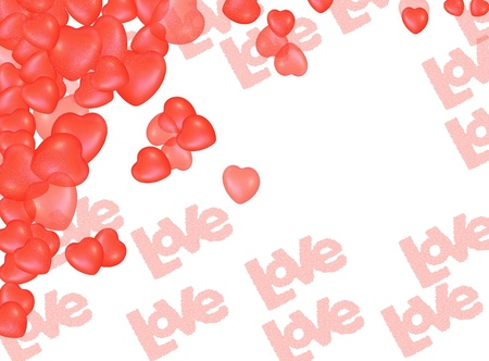 i nobody: Valentine s Day Love Hearts Greeting card