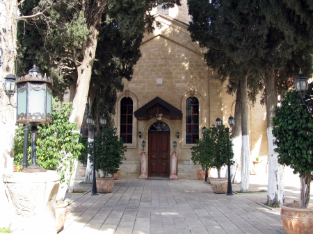 first miracle: Greek Orthodox Church of St  George, Cana of Galilee  Israel   Here  according to the Fourth Gospel, Jesus performed his first public miracle, the turning of a large quantity of water into wine at a wedding feast