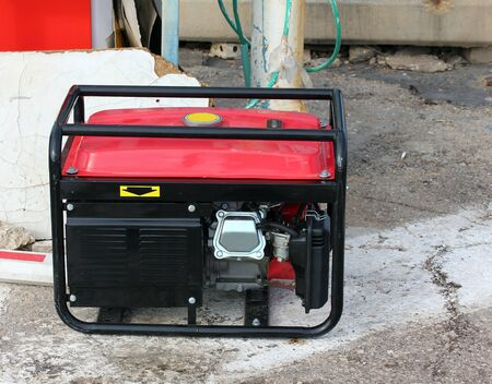 gasoline powered: Gasoline powered emergency electric generator