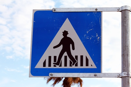 Pedestrian crossing  sign photo