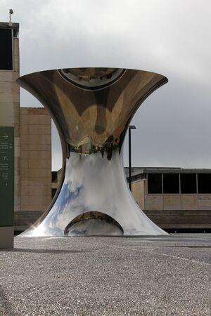 anish: JERUSALEM, ISRAEL  -   Turuning The World Upside-Down Anish Kapoor sculpture at the Israel Museum   in Jerusalem