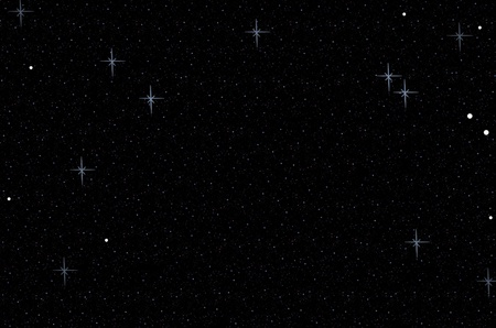 Abstract dark night starry sky