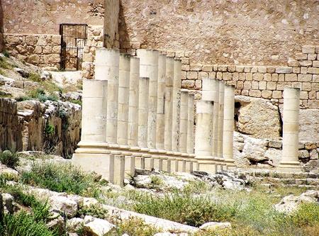 judean desert: Herodium or Herodion ruins   Judean desert, Israel
