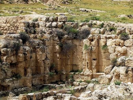 sepulcher: Herodium or Herodion ruins   Judean desert, Israel