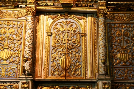 Cupboard  for Torah storage  in the old  synagogue