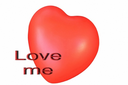 Love me heart  greeting card photo