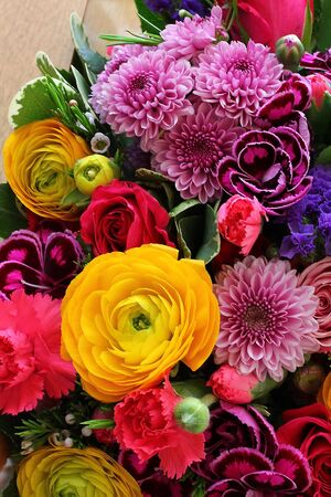 Bouquet of vaus flowers Stock Photo - 18809894