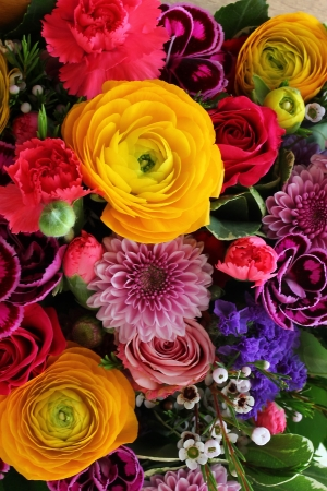 Bouquet of vaus flowers Stock Photo - 18809887