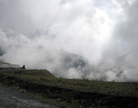 kyrgyzstan: Paisaje monta�oso de Kirguist�n Foto de archivo